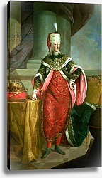 Постер Школа: Австрийская 18в. Emperor Francis I Holy Roman Emperor, wearing the official robes of the Order of St. Stephan