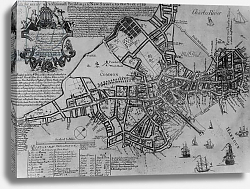 Постер Школа: Америка (18 в) Plan of Boston, New England, 1739
