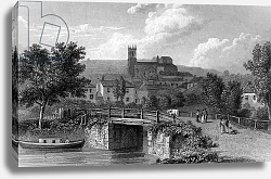 Постер Весталл Уильям (грав) Hythe from the Canal Bridge, engraved by E. Finden, 1829