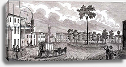 Постер Барбер Джон Central Part of Pittsfield, Massachusetts, engraved by S. E. Brown, 1839