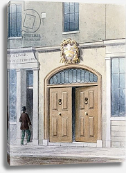 Постер Шепард Томас (акв) The Entrance to Coachmakers Hall, 1854