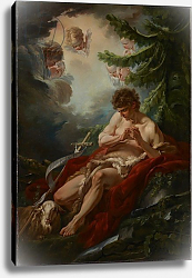 Постер Буше Франсуа (Francois Boucher) Saint John the Baptist, c.1755