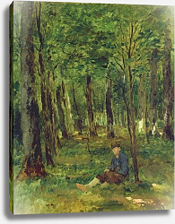 Постер Херст Томас Young Farmer sitting in the Forest, 1878