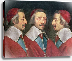 Постер Шампень Филипп Triple Portrait of the Head of Richelieu, 1642