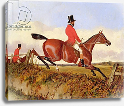 Постер Дэлби Джон Foxhunting: Clearing a Bank, c.1840