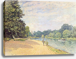 Постер Сислей Альфред (Alfred Sisley) The Thames with Hampton Church, 1874