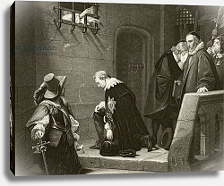 Постер Деларош Ипполит Thomas Wentworth, 1st Earl of Strafford is blessed by Archbishop Laud on the way to his execution