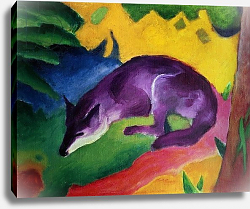 Постер Марк Франц (Marc Franz) Blue Fox, 1911