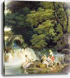 Постер Уитли Франсис The Salmon Leap at Leixlip with Nymphs Bathing, 1783