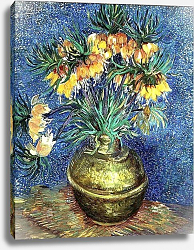 Постер Ван Гог Винсент (Vincent Van Gogh) Crown Imperial Fritillaries in a Copper Vase, 1886