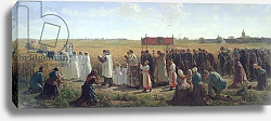 Постер Бретон Жюль The Blessing of the Wheat in the Artois, 1857