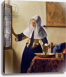 Постер Вермеер Ян (Jan Vermeer) Young Woman with a Water Jug, c.1662