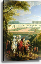 Постер Мартин Пьер View of the Orangerie at Versailles, after 1697