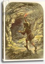 Постер Лидон Александр Robinson Crusoe frightened by a goat in a cave