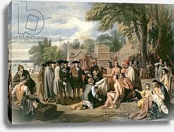 Постер Вест Бенджамин William Penn's Treaty with the Indians in November 1683, 1771-72