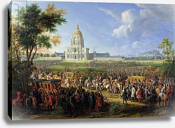 Постер Мартин Пьер Louis XIV and his Entourage Visiting Les Invalides, 26th August 1706