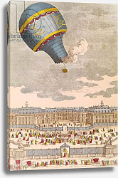 Постер Школа: Французская The Ballooning Experiment at the Chateau de Versailles, 19th September, 1783