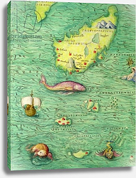 Постер Агнес Батиста (карты) Iceland, from an Atlas of the World in 33 maps, Venice, 1st September 1553