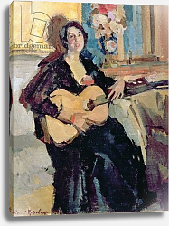 Постер Коровин Константин Lady with a Guitar, 1911