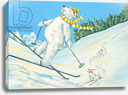 Постер Кук Давид (совр) Polar Bears Skiing