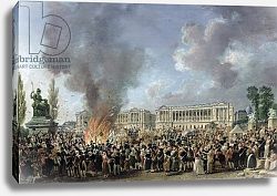 Постер Демаки Пьер The Celebration of Unity, Destroying the Emblems of Monarchy, Place de la Concorde, 10th August 1793