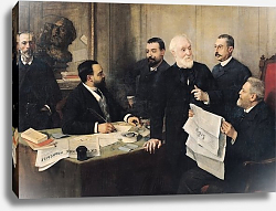 Постер Джервекс Уильям The Board of Directors of 'La Republique Francaise', 1890