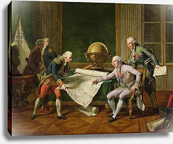 Постер Монсье Николя Louis XVI Giving Instructions to La Perouse, 29th June 1785, 1817