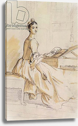 Постер Сэндби Поль Portrait of a Lady at a Drawing Table