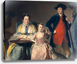 Постер Райт Джозеф James and Mary Shuttleworth with one of their Daughters, 1764