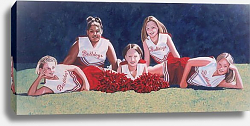 Постер Нельсон Джо (совр) Junior High School Cheerleaders on the Grass, 2003
