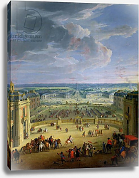 Постер Мартин Жан-Батист Perspective View from the Chateau of Versailles of the Place d'Armes and the Stables, 1688