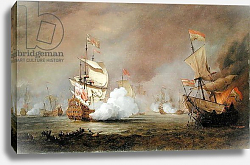 Постер Вельде Вильям Sea Battle of the Anglo-Dutch Wars, c.1700