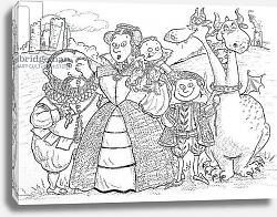 Постер Кристи Майли (совр) Medieval Family Portrait
