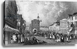 Постер Шепард Джордж High Street, Maidstone, A Market Day, engraved by S. Lacey, published 1832
