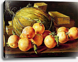 Постер Мелендес Луис Still Life of Oranges, Melons and Boxes of Sweets