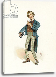 Постер Кларк Джозеф Bob Sawyer, illustration from 'Character Sketches from Charles Dickens', c.1890