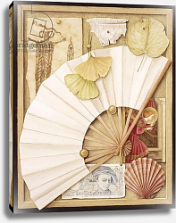 Постер Баррон Дженни Trompe L'Oeil with Fan, 2005