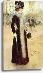 Постер Бакст Леон A Parisian Woman in the Bois de Boulogne, c.1899