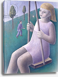 Постер Эдиналл Рут (совр) Girl on Swing, 1996
