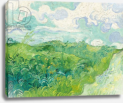 Постер Ван Гог Винсент (Vincent Van Gogh) Green Wheat Fields, Auvers, 1890