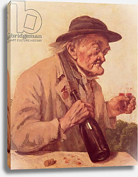 Постер Курбе Гюстав (Gustave Courbet) Old Man with a glass of wine