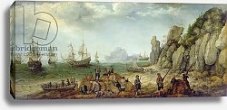 Постер Виллартс Адам Wild goat hunting on the coast, 1620