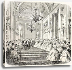 Постер King Vittorio Emanuele  in a historical building in Florence. From drawing of Janet-Lange, published