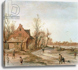 Постер Велде Эсиас Winter Landscape, 1623