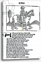 Постер Школа: Английская 15в The Wife of Bath, illustration from Geoffrey Chaucer's 'Canterbury Tales', printed by William Caxton