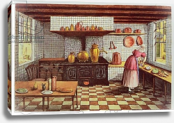 Постер Бест Мари Kitchen of the Hotel St.Lucas, in the Hoogstraat, Rotterdam, 1834