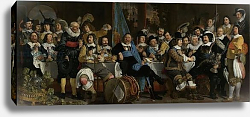 Постер Хельст Бартоломью Banquet of the Crossbowmen's Guild in Celebration of the Treaty of Munster, 1648