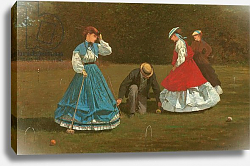 Постер Хомер Уинслоу The croquet game, 1866