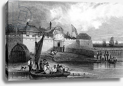 Постер Шампьон Джордж (грав) Tilbury Fort, Essex, engraved by Henry Adlard, c.1832