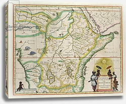 Постер Неизвестен Map of Ethiopia , c.1690 possibly after G. Blaeu's